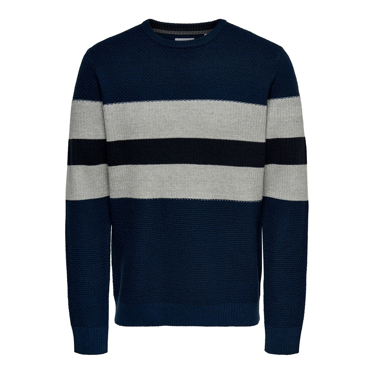 onsronald 12 stripes struc knit 22015092 only & sons trui dress blues