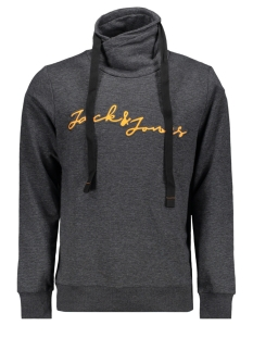Jack & Jones sweater JCOGEN SWEAT HOOD 12162073 Black/MELANGE/JJ