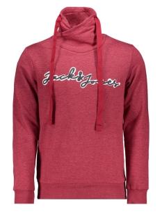 Jack & Jones sweater JCOGEN SWEAT HOOD 12162073 Rio Red/MELANGE/JJ