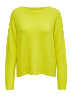 Jacqueline de Yong Trui JDYFAVORITE L/S PULLOVER DENIM KNT 15193961 Neon Yellow