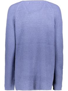 vmleanna ls o-neck long blouse boo 10224141 vero moda trui blue ice
