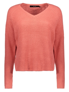 vmleanna ls v-neck blouse boo 10224143 vero moda trui tea rose