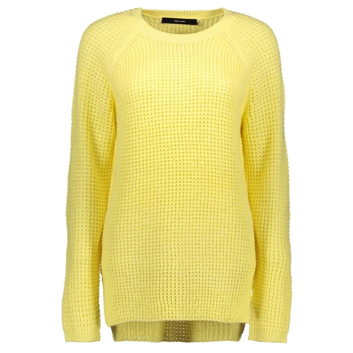 vmleanna ls o-neck long blouse boo 10224141 vero moda trui pale banana