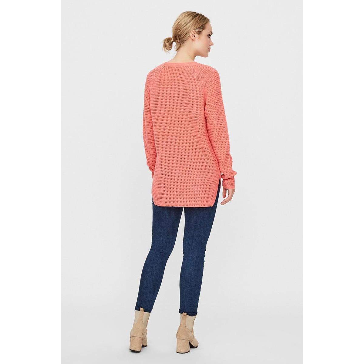 vmleanna ls o-neck long blouse boo 10224141 vero moda trui tea rose