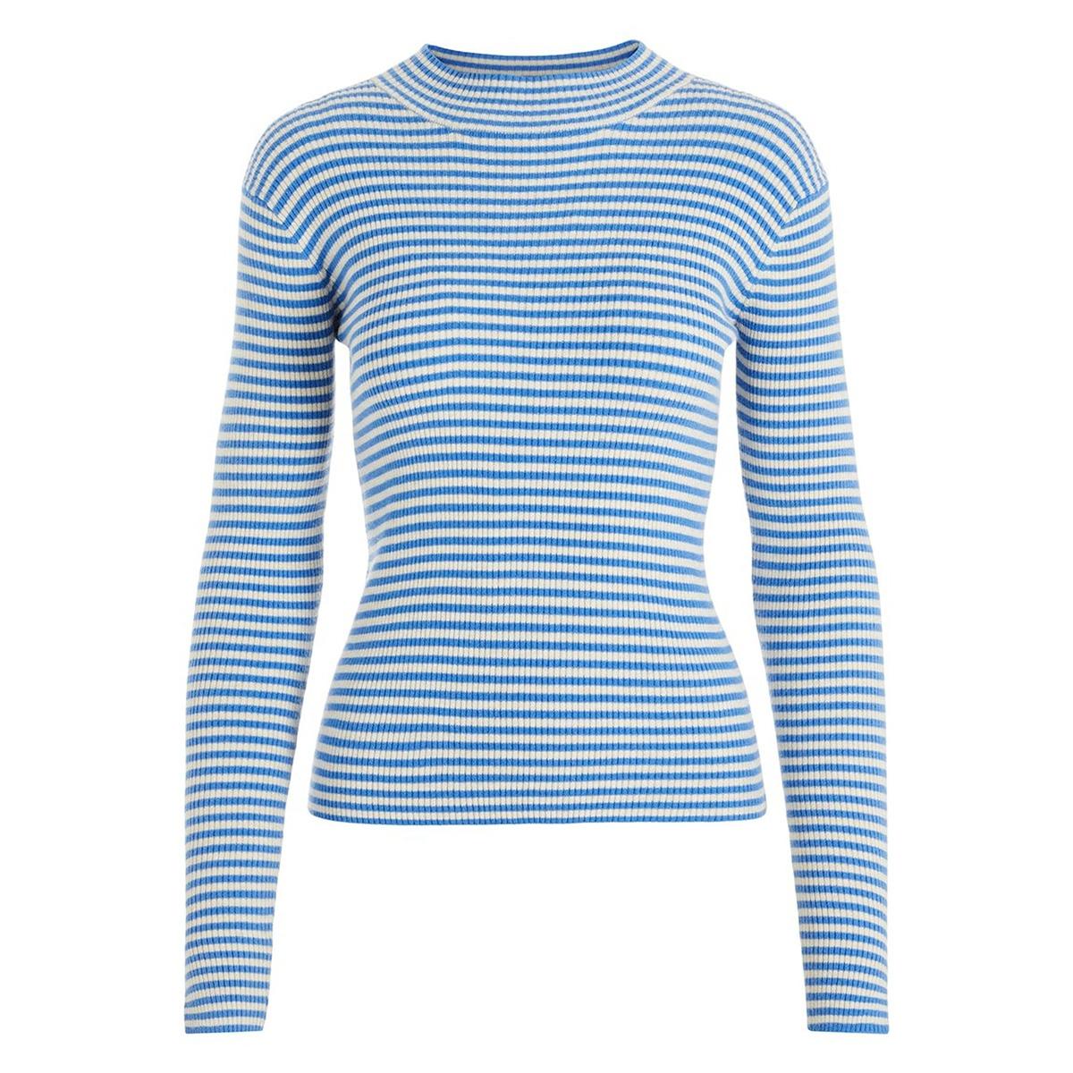 pcjade ls  t-neck knit 17100162 pieces trui almond milk/regetta