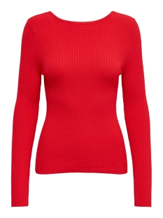 Only Trui ONLSTRING L/S PULLOVER KNT 15196090 High Risk Red