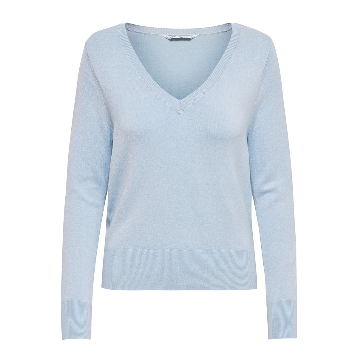 onlvenice l/s v-neck pullover knt 15191995 only trui bel air blue