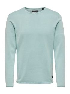 Only & Sons Trui ONSGARSON 12  WASH CREW NECK KNIT NOOS 22006806 Aquifer