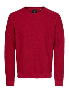 Only & Sons Trui ONSDIAN 12 NAPS CREW NECK KNIT 22014032 Pompeian Red