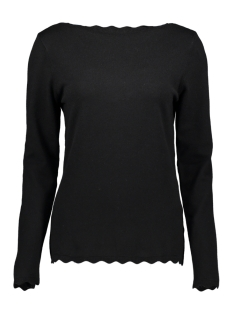 Saint Tropez Trui KNITTED BLOUSE LS U2522 30501521 193911 Black Beauty