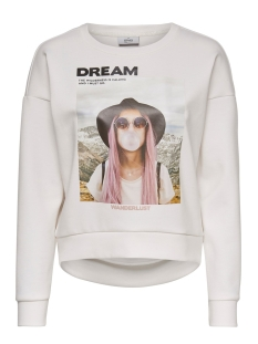 onlziggy l/s o-neck box swt 15199432 only sweater cloud dancer/dream