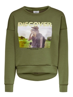 onlziggy l/s o-neck box swt 15199432 only sweater martini olive
