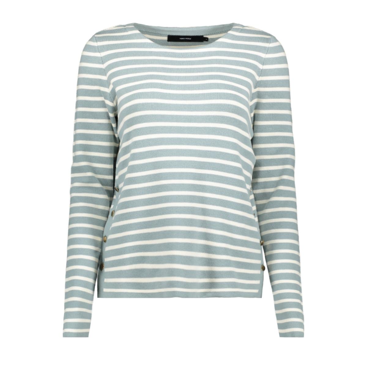 vmsailor ls stripe blouse boo 10223724 vero moda trui slate/pristine