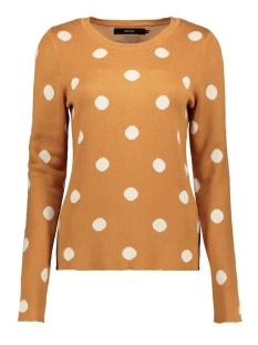 vmdot ls o-neck blouse boo 10223738 vero moda trui meerkat/w. birch dots