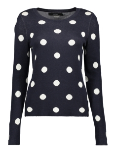 Vero Moda Trui VMDOT LS O-NECK BLOUSE BOO 10223738 Night Sky/W. Birch Dots