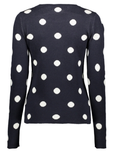 vmdot ls o-neck blouse boo 10223738 vero moda trui night sky/w. birch dots
