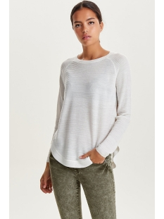 onlcaviar l/s pullover knt noos 15141866 only trui whitecap gray