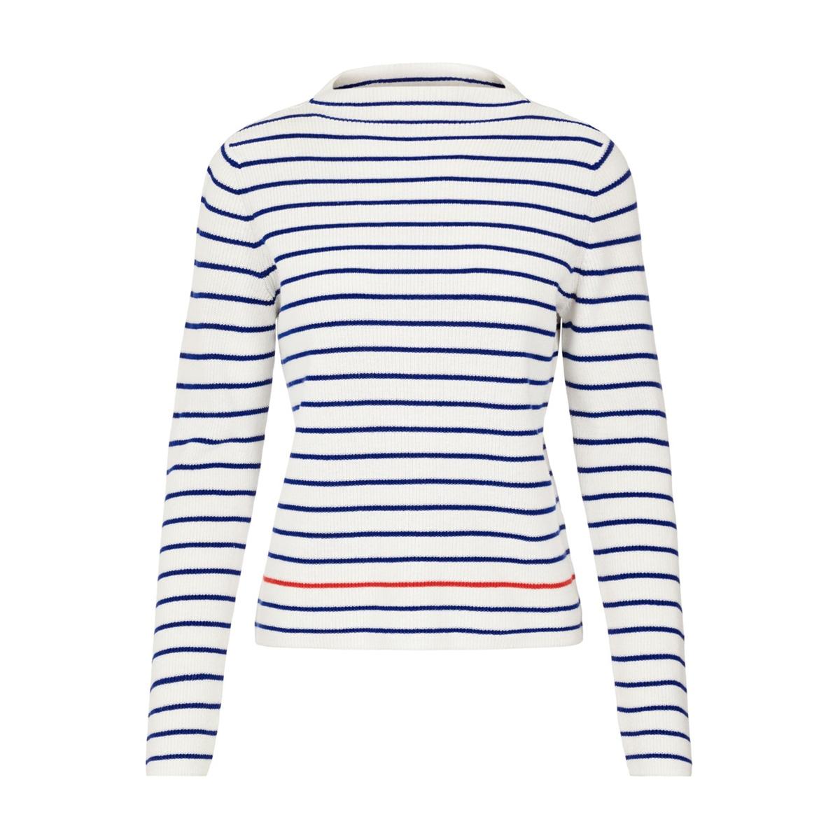 pcnikita ls mock neck knit 17101595 pieces trui cloud dancer/stuw w.
