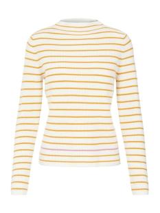 pcnikita ls mock neck knit 17101595 pieces trui cloud dancer/argo w.sl
