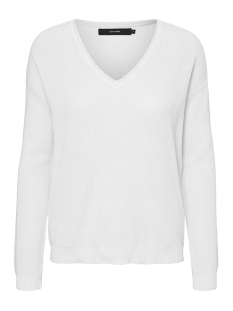 Vero Moda Trui VMLEXA LS V-NECK BLOUSE COLOR 10228187 Snow White