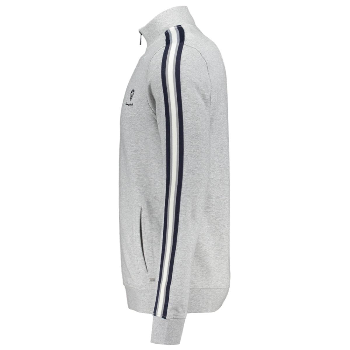 classic sweater 052932 campbell vest 001 middengrijs