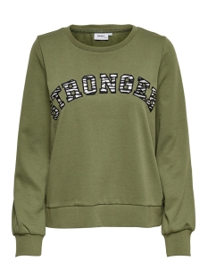 onlgitta life l/s o-neck swt 15199657 only sweater martini olive