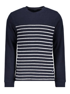 Jack & Jones Trui JPRDENIM STRIPE BLU. SWEAT CREW NEC 12163955 Navy Blazer/SLIM FIT