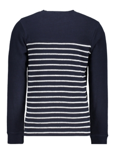 jprdenim stripe blu. sweat crew nec 12163955 jack & jones trui navy blazer/slim fit