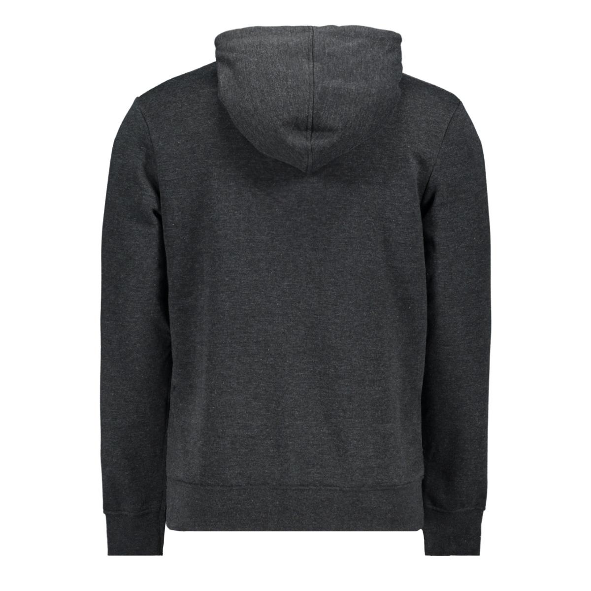 jcomarlon sweat hood 12167582 jack & jones sweater black/melange
