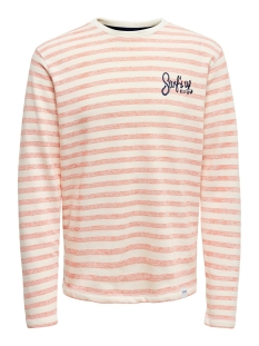 Only & Sons Trui ONSCHAI SWEAT CE 6219 22016219 Hot Coral