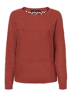 vmlima ls boatneck blouse 10224927 vero moda trui marsala