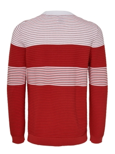 onsnykko 12 striped struc knit 22015514 only & sons trui pompeian red