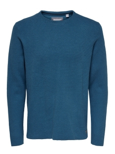 Only & Sons Trui ONSNICKLAS STRUCTURED CREW NECK KNI 22015522 Dark Blue