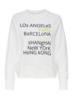 Jacqueline de Yong sweater JDYZILDA LIFE L/S PRINT SWEAT JRS 15200616 Cloud Dancer/CITY
