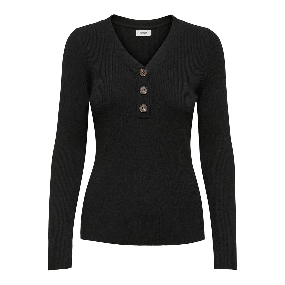 jdymelani l/s pullover knt 15195353 jacqueline de yong trui black