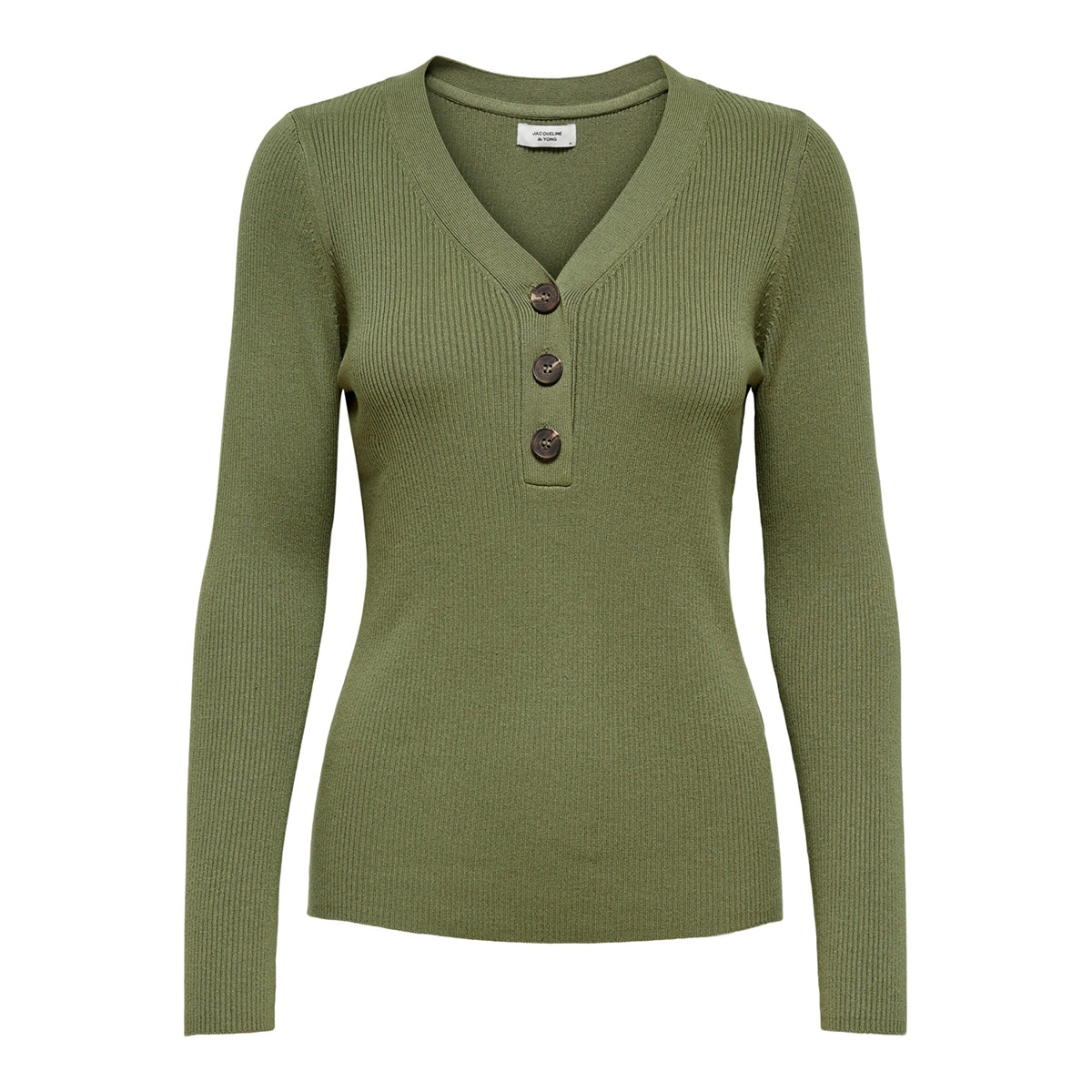 jdymelani l/s pullover knt 15195353 jacqueline de yong trui martini olive