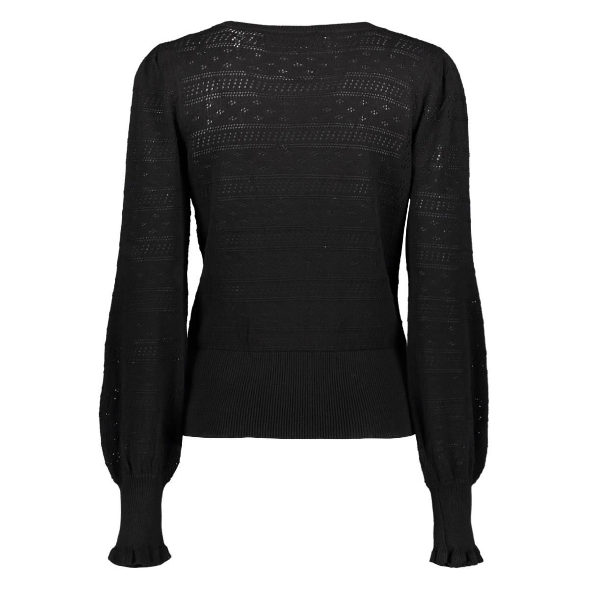 vmviolapuff ls v-neck blouse 10227574 vero moda trui black