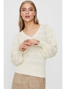 vmviolapuff ls v-neck blouse 10227574 vero moda trui birch