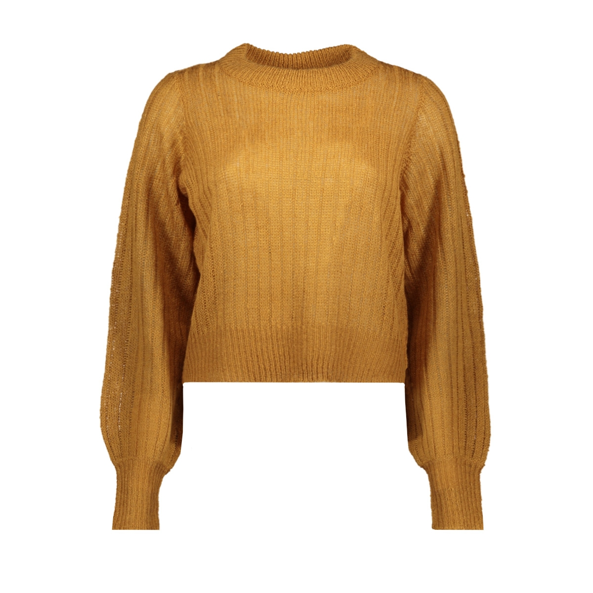 nmsabby l/s o-neck knit 27011413 noisy may trui brown sugar