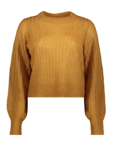 Noisy may Trui NMSABBY L/S O-NECK KNIT 27011413 Brown Sugar