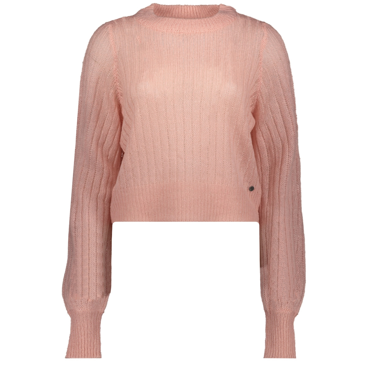 nmsabby l/s o-neck knit 27011413 noisy may trui silver pink