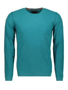NO-EXCESS sweater WAFFLE PULLOVER 90210221N 129 DK AQUA