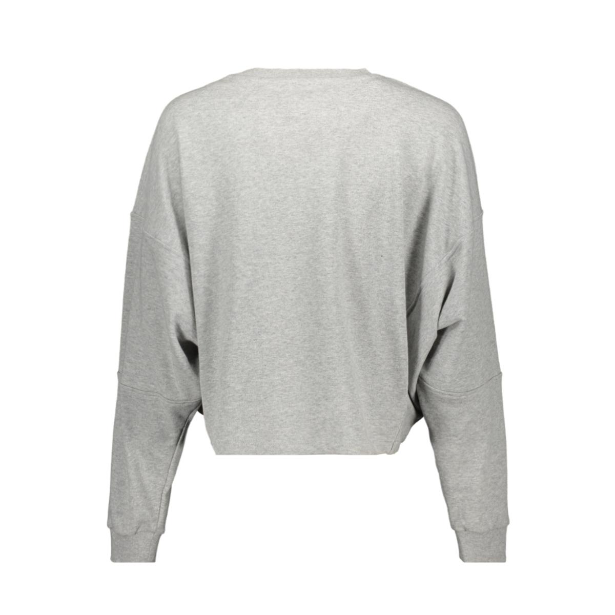 nmpumba l/s sweat unbrushed bg 27012893 noisy may sweater light grey melange