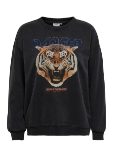 Only sweater ONLPURMEREND L/S O-NECK SWT 15214491 Black/TIGER DANGER