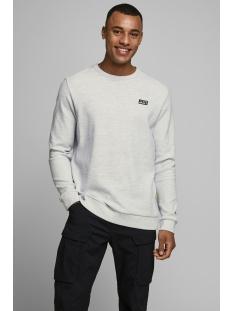 Jack & Jones sweater JCOJUAN SWEAT CREW NECK 12167190 White Melange/NEW WHITE