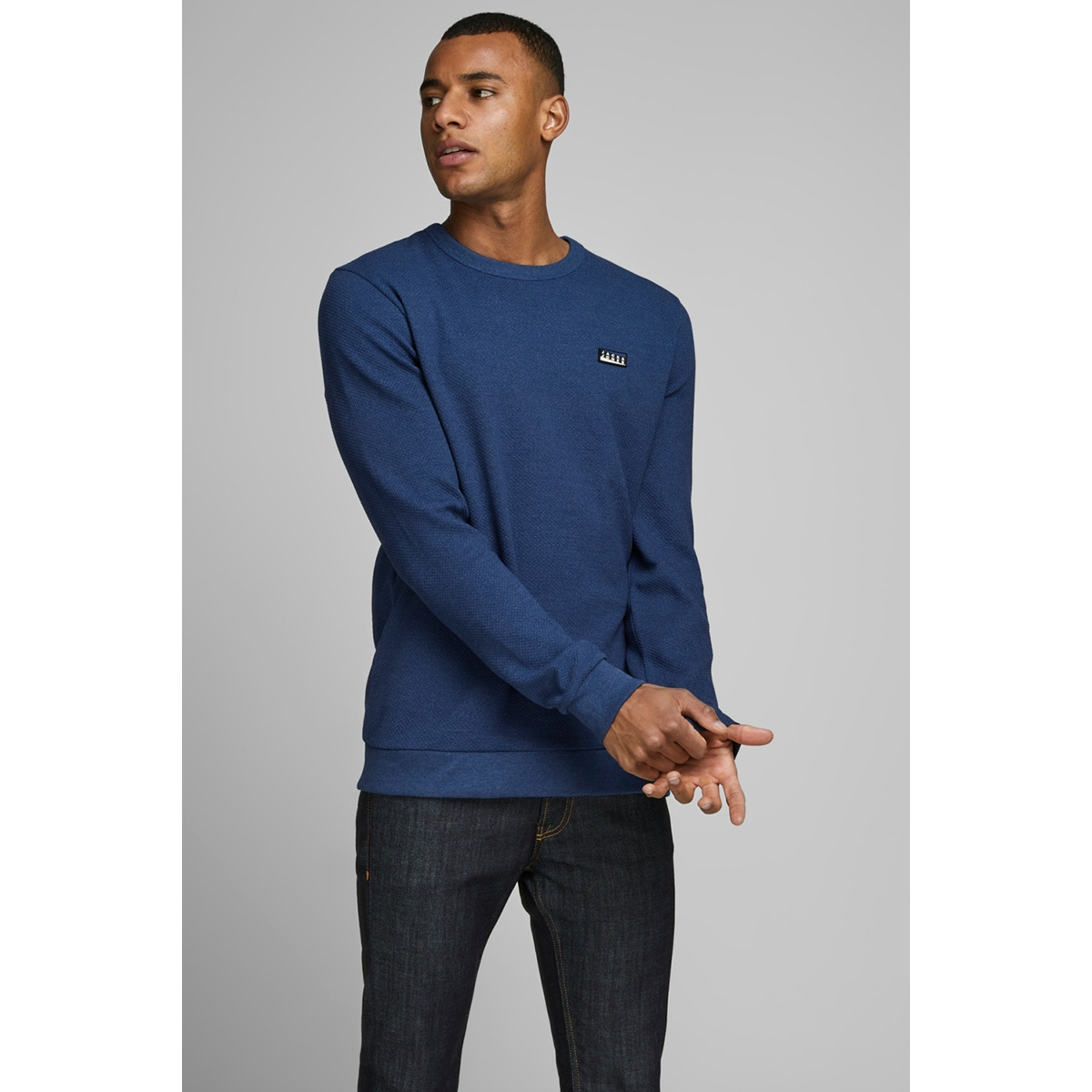 jcojuan sweat crew neck 12167190 jack & jones sweater navy peony