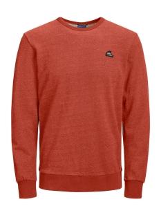 jorfrankie sweat crew neck 12168053 jack & jones sweater chili/slim