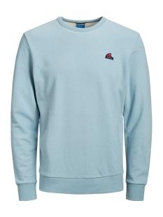 jorfrankie sweat crew neck 12168053 jack & jones sweater ashley blue/slim