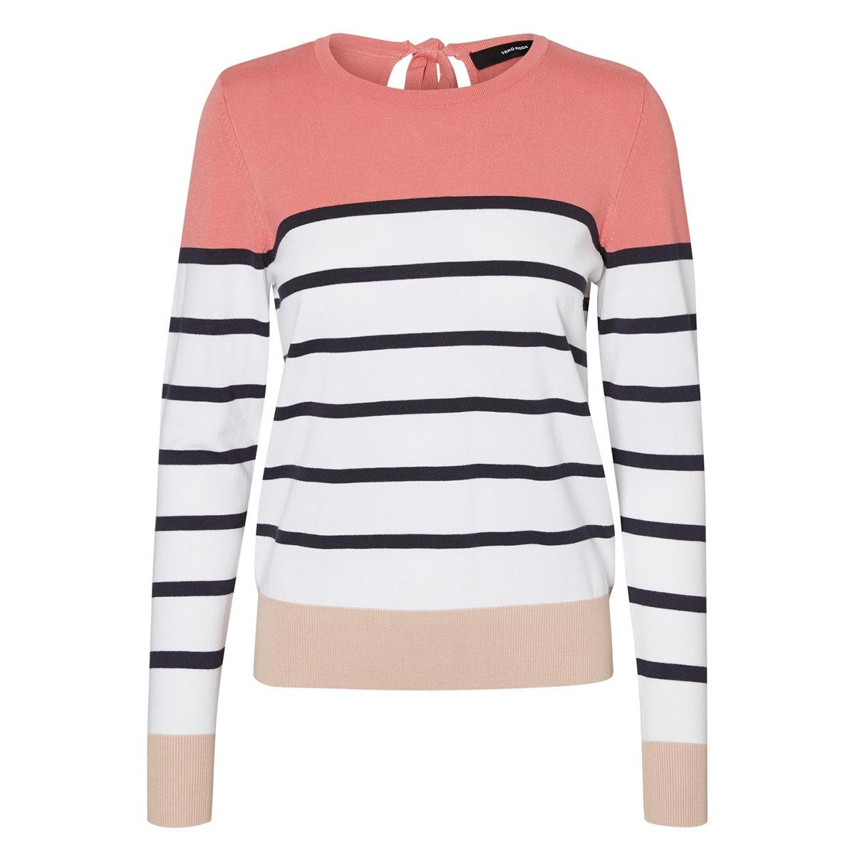 vmlacole ls block blouse boo 10223742 vero moda trui tea rose/w.nights