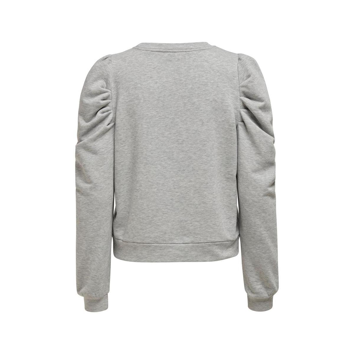 onldida l/s puff sweat 15208600 only sweater light grey melange